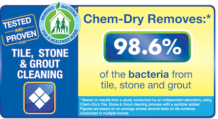 Stone, Tile & Grout Cleaning By Columbus Chem-Dry Removes 98.6% of Bacteria